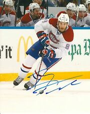 BRANDON PRUST signed MONTREAL CANADIENS 8X10 PHOTO COA
