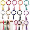 Luxury Leather Keychain Bracelet Keyring Key Chain Bangle O Key Ring Hoop Gift