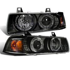 CG BMW 3 Series E36 92-98 2 Dr Projector Headlight G2 Halo Black Clear