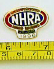NHRA 1996 Championship Drag Car Racing Member Collectible Pin Vintage Logo