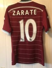 West Ham United 2014/15  Adidas Home Shirt - Size Small (Zarate 10)