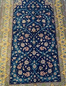 113-Very fine Antique silk rug