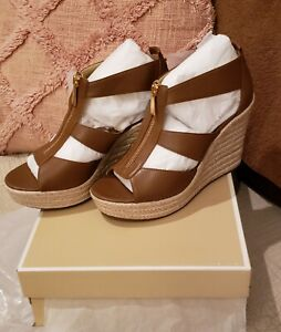 Michael kors damita wedge Leather 7.5/37.5
