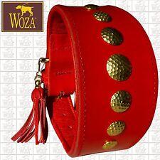 WOZA Premium Windhund Halsband Vollleder Soft Rindnappaleder Galgo Collar WHSR01