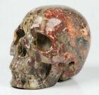 "2.0"" Dinosaur Egg Agate Carved Crystal Skull, Realistic, Crystal Healing"