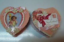 2009 Bethany Lowe by Casey Mack Valentine's Day Sweetheart Candy Boxes Set/2