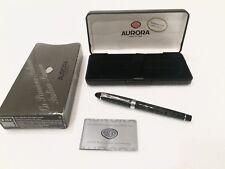 Aurora B13-C Lacquered Fountain Pen 14k 585 Solid Gold Nib- Like New UNUSED
