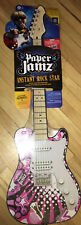 Wow Wee Paper Jams Guitar Series Two New Sealed Pink White New In Cellophane