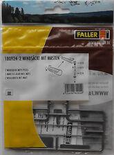 FALLER 180924 Windsocks With Poles (2) 00/H0 Model Rail Plastic Kit