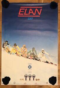 ORIGINAL VINTAGE OLYMPIC GAMES POSTER SARAJEVO 1984 ELAN SKI INGEMAR STENMARK