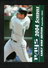 Aubrey Huff--2004 Tampa Bay Devil Rays Early Bird Pocket Schedule--Rays of Hope