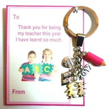 Thank You Gift for Teacher End Term 2017 Key Ring on Gift card in gift bag