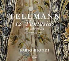 Telemann / F. Biondi - Telemann: 12 Fantasias for Solo Violin [New CD]