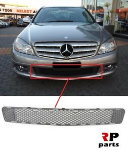 FOR MERCEDES BENZ MB C CLASS W204 07-11 NEW FRONT BUMPER LOWER GRILL BLACK