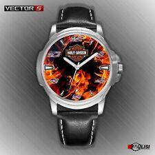 Orologio da polso Harley & Davidson Fire watch in acciaio fiamma fuoco inferno T