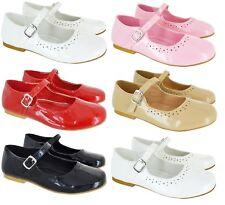 Niños Niñas Niños Plano Boda Fiesta Escuela Mary Jane Dolly Zapatos De Salón Talla 8-2