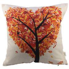 Throw Pillow Autumn Cover Cotton Thanksgiving Gift Fall Cushion Pillow Sofa Case