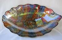 Large Italian Art Glass Bowl Tuscany Italy Multi Color 477 Mother's Day Gift