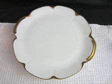 "antq 15"" Theodore Haviland France Limoge Silver Anniversary gold serving platter"
