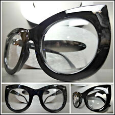 caf6b8ed357 Oversized Vintage Retro Style Clear Lens EYE GLASSES Thick Black Fashion  Frame