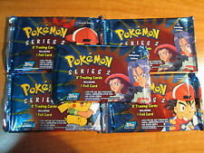 5x SEALED Pokemon TOPPS SERIES 2 Booster Packs TV Adnimation Edition Card TCG