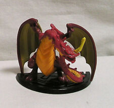 Red & Gold Dragon on Black Base Marked S/S/B China, Plastic Dragon Figure Toy
