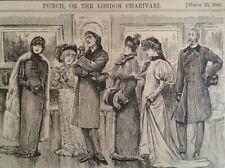 Punch Cartoon 1880 Antique Original Rare VHTF Etch Fashion Satire Art Critic