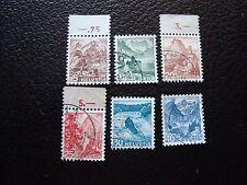SUISSE - timbre yvert et tellier n° 461 a 466 obl (465 petit aminci) (L1)