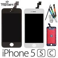 Ecran LCD iPhone 5/ 5C/ 5S, NOIR  BLANC, Kit de réparation avec outils