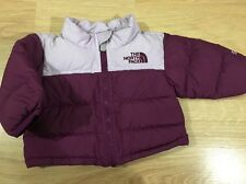 The North Face 550 Down Puffer Coat Baby Toddler Size 0-3 Months Purple