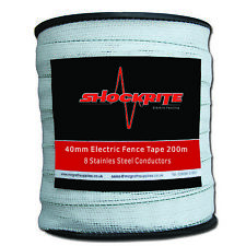 Electric Fence Fencing ShockRite 200m x 40mm White Tape