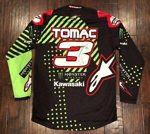 Eli Tomac #3 Autographed Jersey Alpinestars Monster Kawasaki
