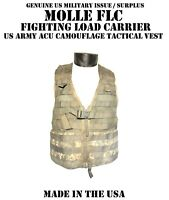 US ARMY ACU MILITARY MOLLE FLC FIGHTING LOAD CARRIER TACTICAL VEST DIGI CAMO GC