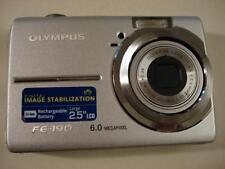 Very Nice Olympus FE-190 6MP Digital Camera FE190 Silver