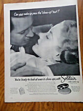 1952 Solitair Cake Make-up Ad Lovely to look at even in Close-Ups