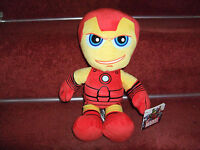 "OFFICIAL MARVEL IRON MAN SOFT TOY PLUSH 12"" COMIC BOOK HERO NEW TAGS"
