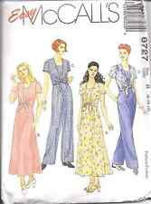 8727 Uncut McCalls Vintage Sewing Pattern Semi Fitted Dress Jumpsuit Oop Sew Ff