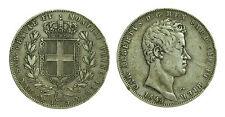 pcc1474_2) Carlo Alberto (1831-1849) Lire 5 1844 GE - TONED