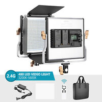Neewer 2.4G Video Light Dimmable Bi-Color LED Panel with LCD Screen for Studio