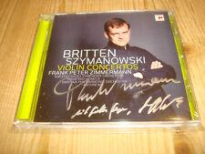 Signed FRANK PETER ZIMMERMANN HONECK Britten Szymanowski Violin Concerto SONY CD
