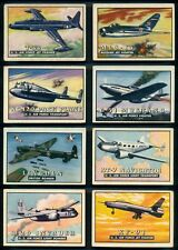 1952 TOPPS WINGS CARDS PARTIAL SET LOT 89/200 EX+ World Airplanes Jets Bombers