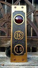 Art Nouveau Antique Fire Alarm Supervisory Rare Board Bronze Panel