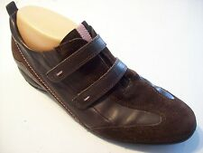 Ecco Mox Brown Leather Suede Loafers Athletic Bowling Style Shoes Size 40 9 9.5