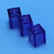 Lot of 4 Translucent Purple Lego Bricks 1 X 1 cubes pieces blocks castle