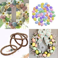 Easter Rattan Wreath Egg Garland Home Party Haning Decor Craft Gift Favor DIY