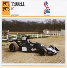 1974-1976 TYRRELL 007 Racing Classic Car Photo/Info Maxi Card