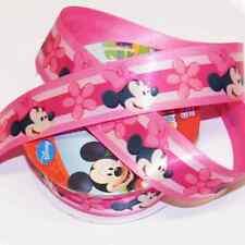 1 Metro De Disney Minnie Mouse Floral Rosa 25mm De Raso Artesanales Cinta