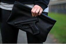 Designer 3D Gewehr Mode Frau Kupplung Pistole Geprägt Bote Wristlet Tasche