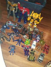 LARGE Transformer Toy Lot  3 talking , bumblebee and more includes Hasbro