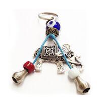 1 Evil Eye Keychain Lucky Charm Key Chain Elephant Hamsa Nazar Amulet Protection